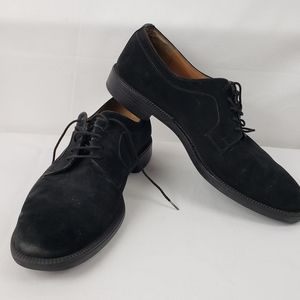 Salvatore Ferragamo black suede laceup shoes, 8.5